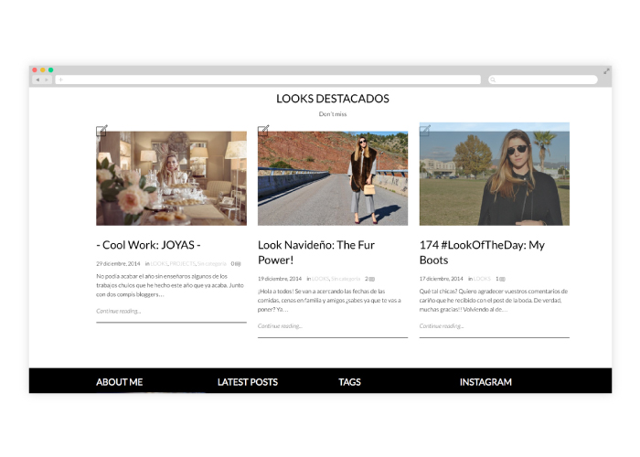 Diseño de blog de moda en wordpress