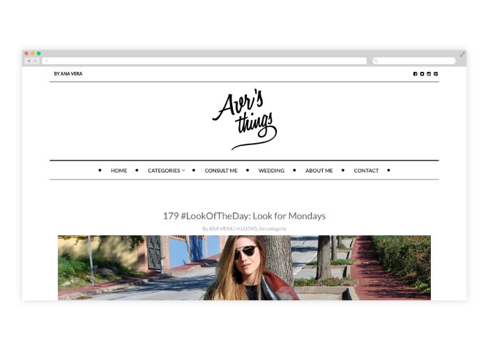 Diseño de blog de moda en wordpress