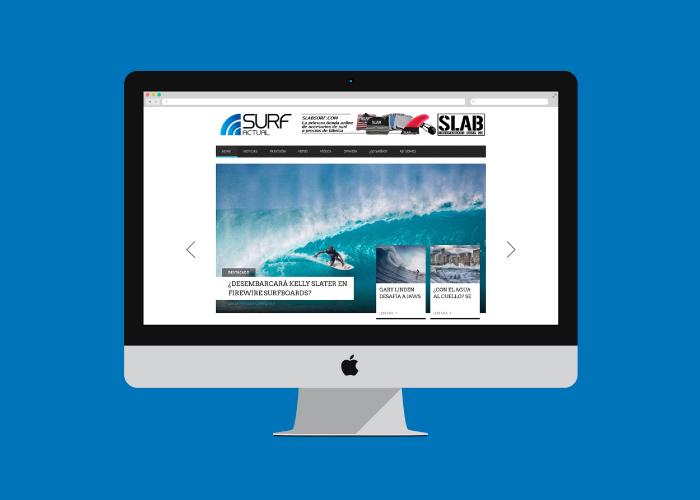 Diseño de blog de noticias sobre surf