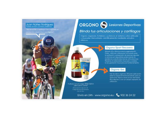Diseño de publicidad de producto para lesiones deportivas
