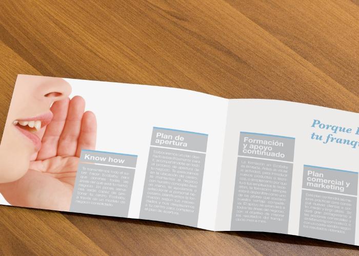 Diseño de dossier para empresa médica dedicada a la ecografía y a la creación de franquicia
