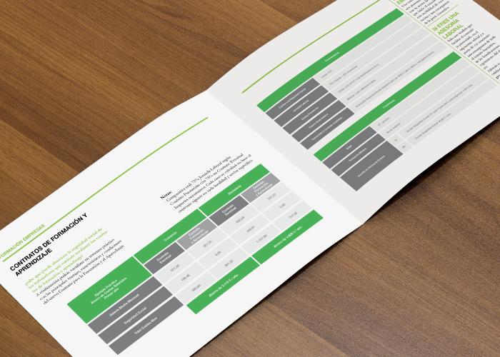 diseño de un dossier para una empresa de consultoría y formación