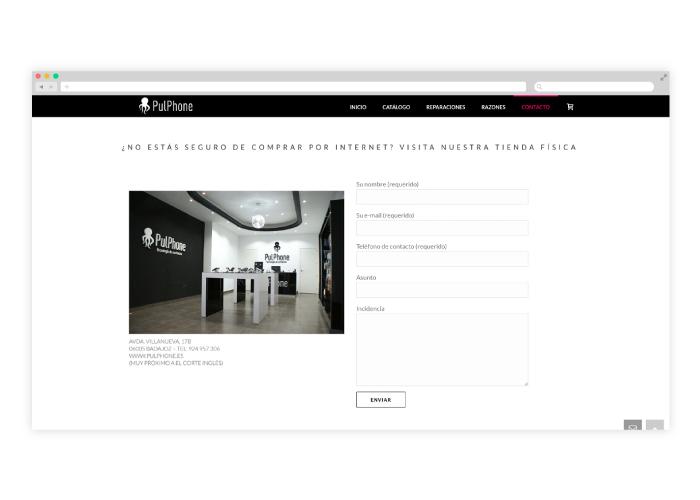 Diseño y desarrollo web para una tienda online de tecnología