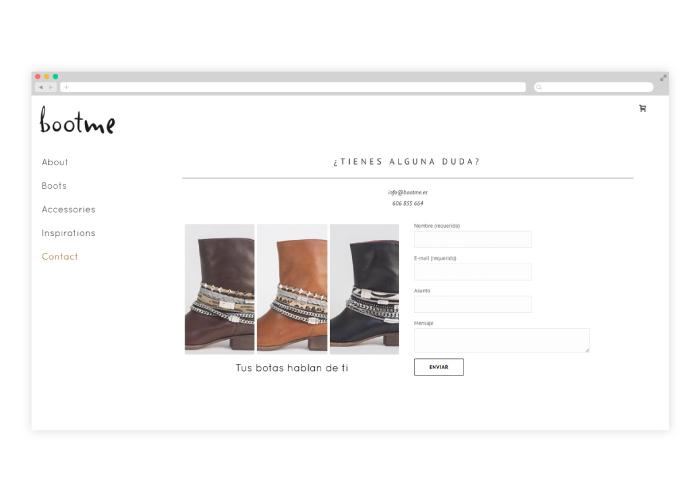 Desarrollo y diseño web de tienda online de botas