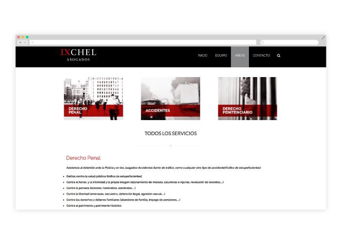 Diseño de una web de abogados en Madrid