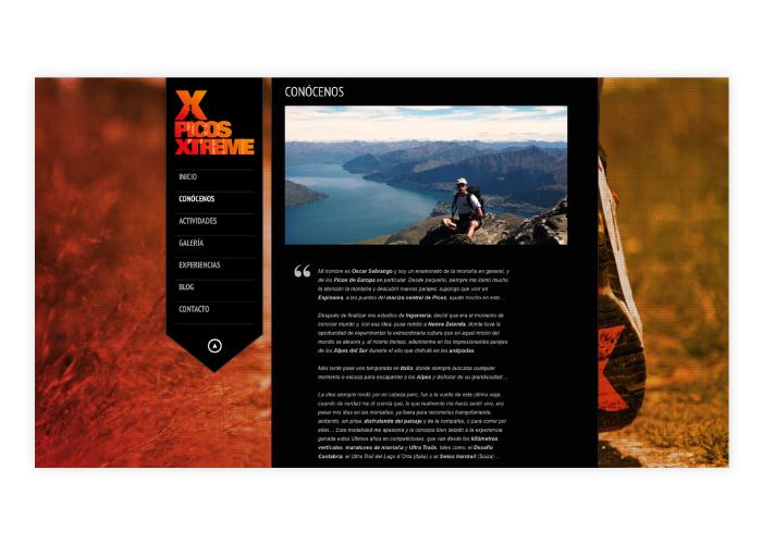 Diseño web deportes extremos de montaña