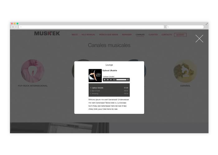 Diseño web para empresa de hilos musicales