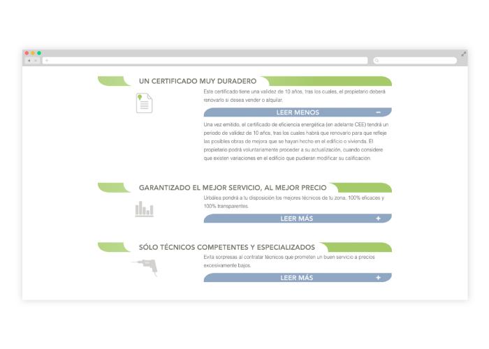 Diseño de tienda online de certificados energéticos