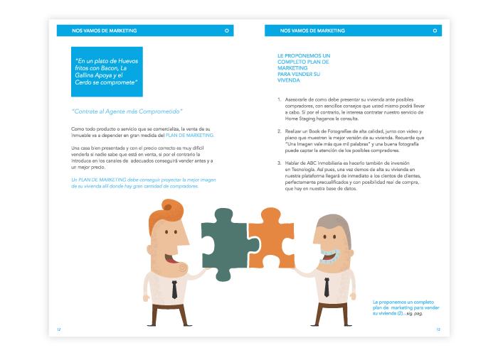 Diseño dossier para una inmobiliaria en Málaga