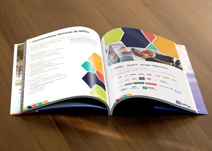 Diseño de dossier para empresa dedicada al sector del internet, red y móviles
