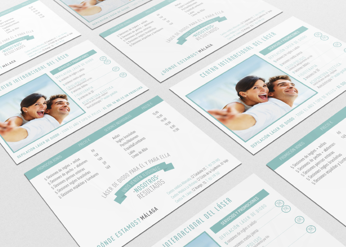 Diseño de flyer informativo para centro médico de láser