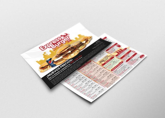 Diseño de flyer para burguer con servicio a domicilio