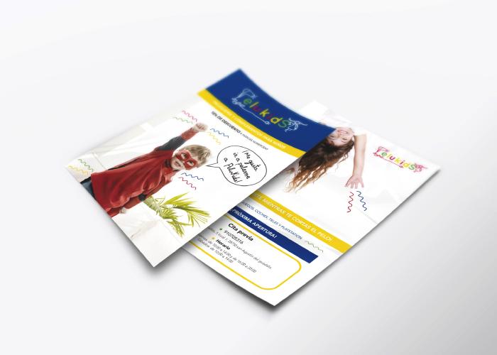 diseño de flyer promocional para una peluquería infantil