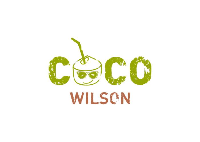 Diseño de logotipo para empresa de bebida de coco