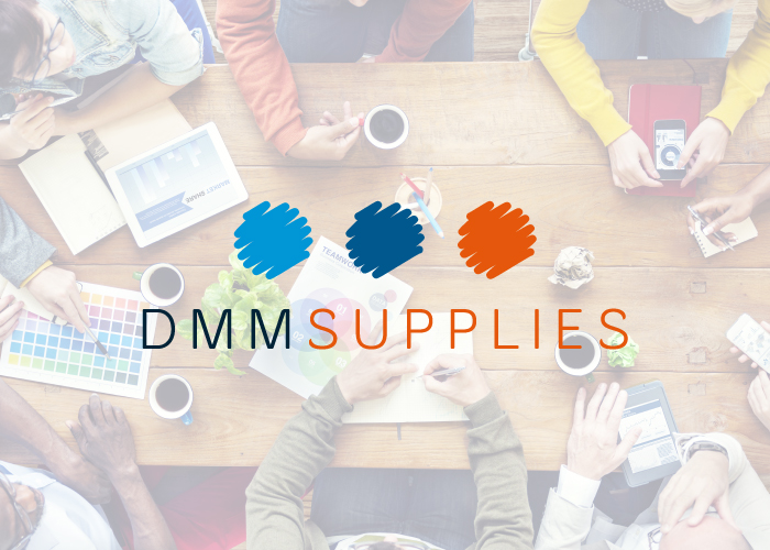 Dise o logotipo empresa distribuci n material de oficina for Distribucion de oficinas en una empresa