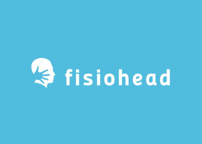 Diseño logo fisioterapia cabeza