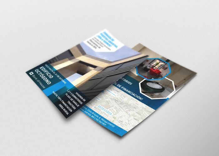 Diseño de flyer para una promoción inmobiliaria en Málaga