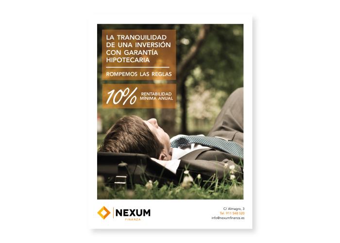 Diseño de publicidad para una revista financiera
