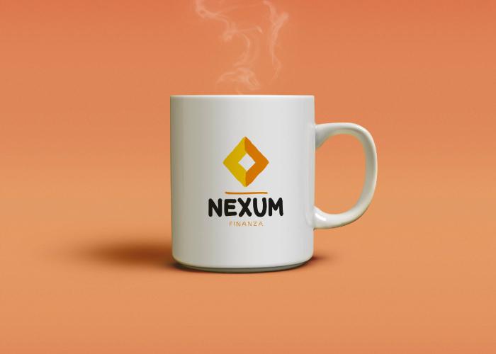 Diseño de taza personalizada para empresa financiera