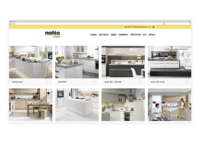 Desarrollo y dise o web tienda de cocinas nolte m laga - Nolte cocinas ...