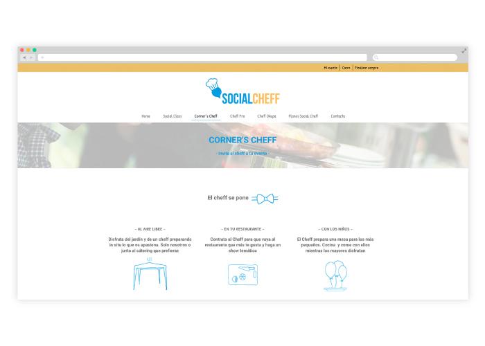 Diseño y desarrollo de web para cursos de cocina