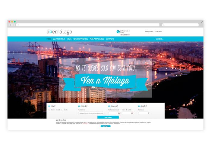 Diseño y desarrollo web para una empresa de alquiler de apartamentos en Málaga