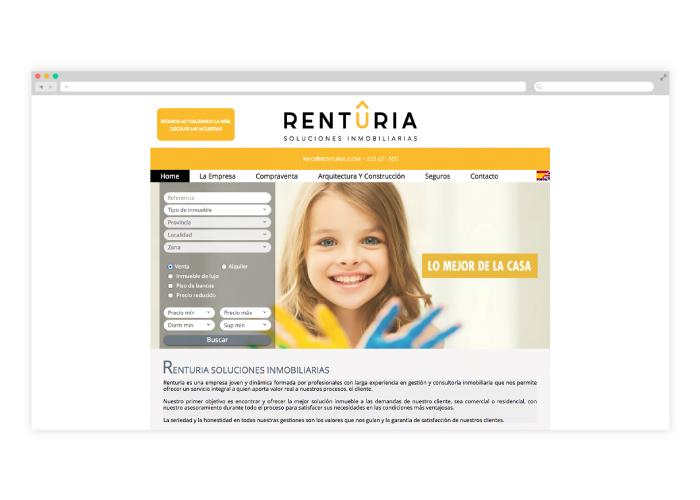 Diseño web inmobiliaria habitania