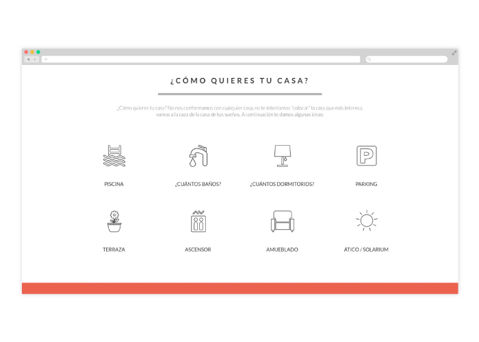 Diseño web Personal Shopper Inmobiliario