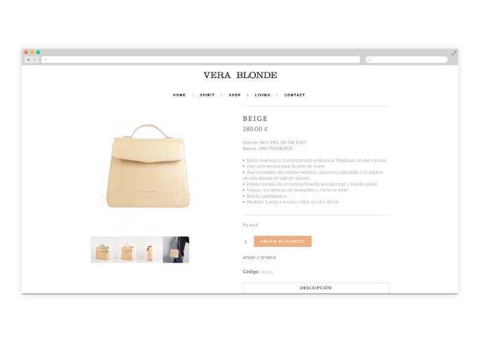 Diseño y desarrollo de una tienda online de bolsos
