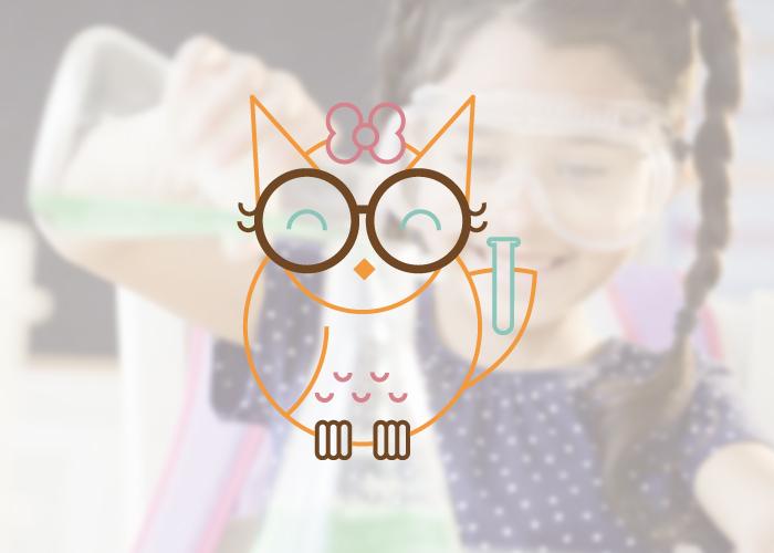 Diseño de ilustración para laboratorio infantil femenino