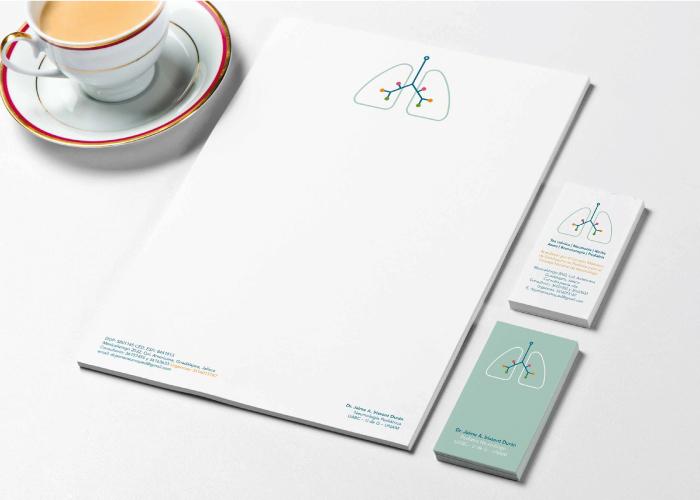Diseño de papelería para consultorio de pediatra neumólogo