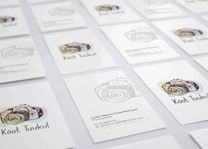 Diseño de tarjeta para video y fotografía corporativa
