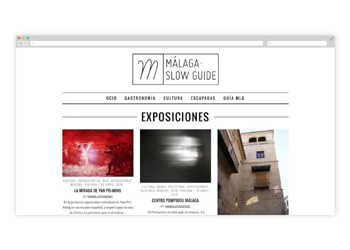 Diseño y programación de blog para guía cultural en Málaga