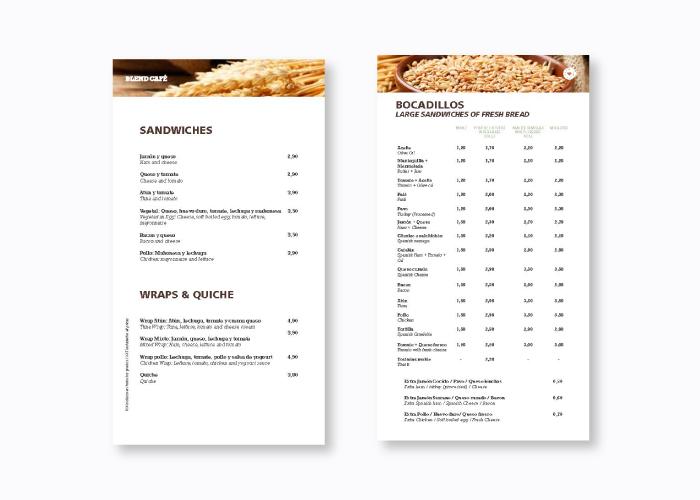 Diseño de menú hostelería