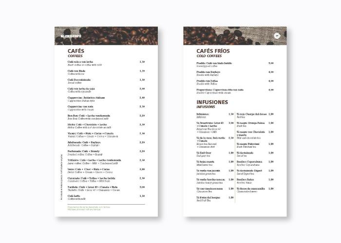 Diseño de bollería y café