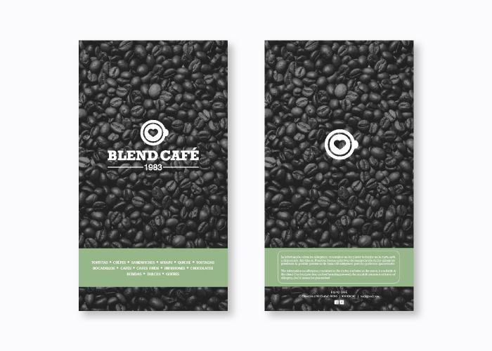 Diseño de menú café