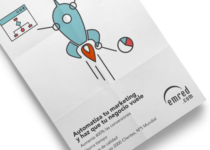 Diseño de cartel publicitario para herramienta de marketing