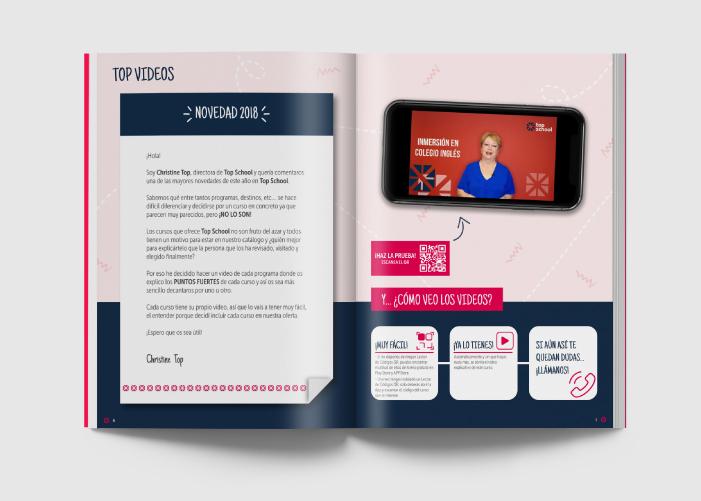Diseño de revista para agencia dedicada a la organización de cursos de idiomas en el extranjero
