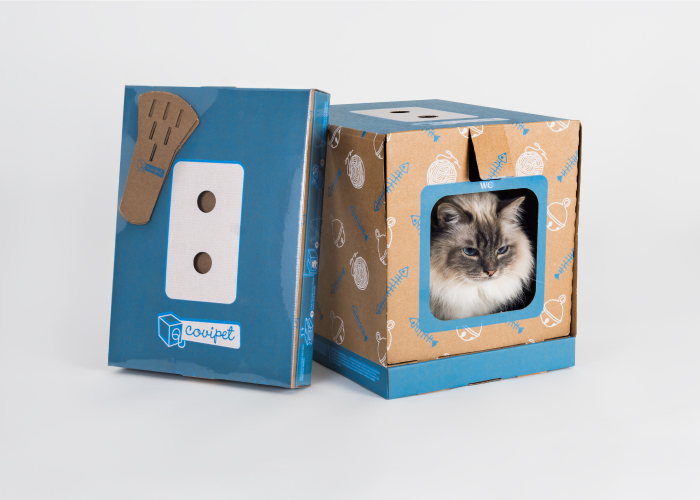 Diseño de packaging arenero para gatos