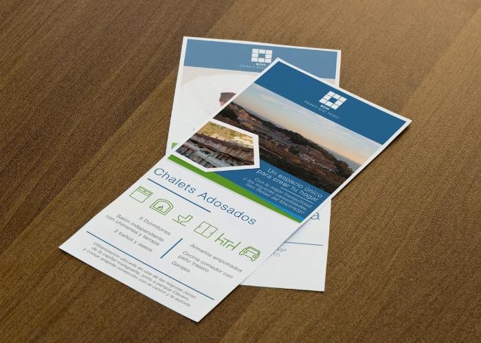 Diseño de flyer para promoción inmobiliaria en Málaga