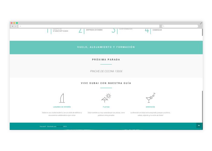 Diseño web para empresa de empleo en Dubai