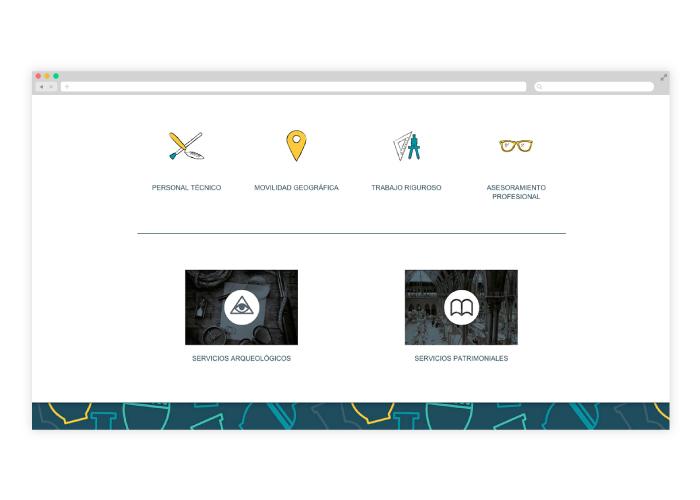 Diseño web para arqueólogo