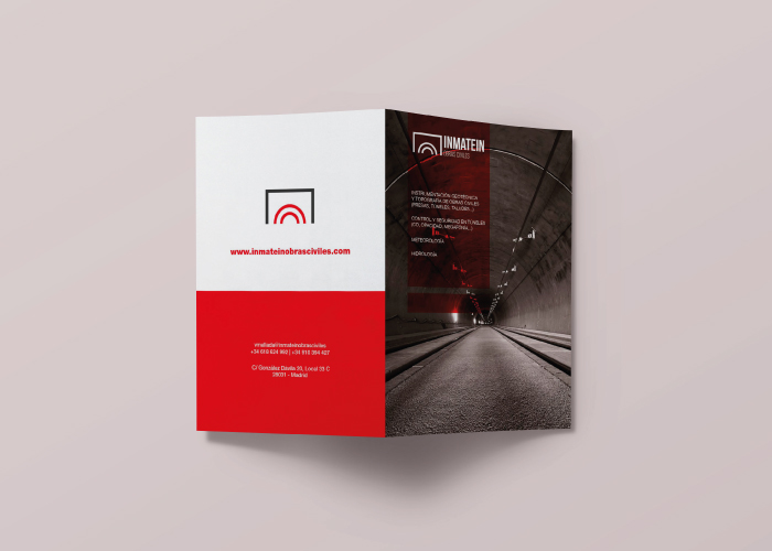 Diseño de díptico para una empresa que se dedica a la construcción de obras civiles