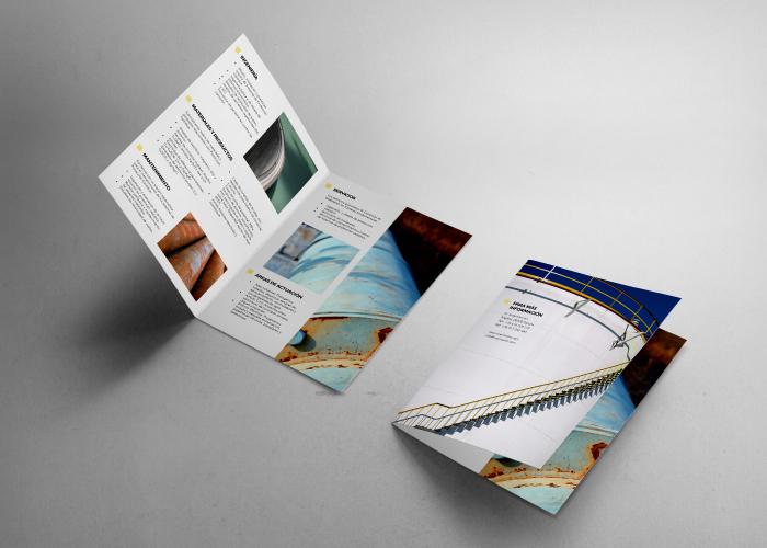 Diseño de díptico para empresa de protección catódica