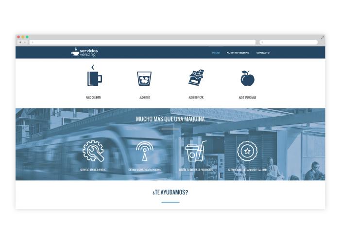 Diseño web para distribuidora de vending