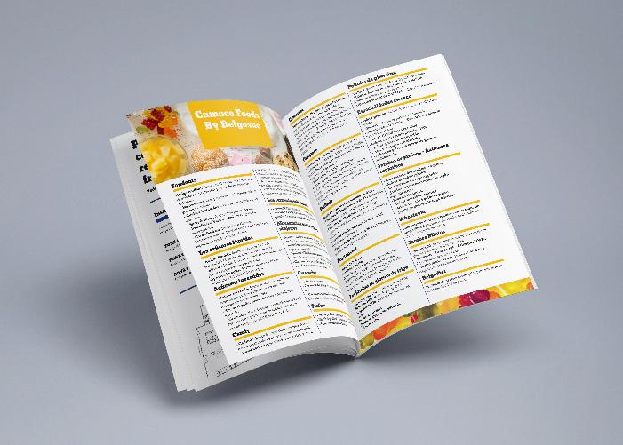 Diseño de catálogo para empresa dedicada a la elaboración de productos a base de azucares naturales