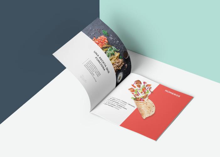 Diseño de dossier para franquicia de comida turca en Málaga