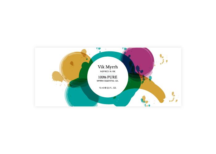 Diseño de etiqueta para aceites corporales naturales