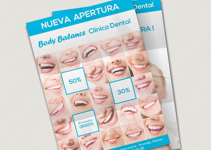 Diseño de flyer para una Clínica Dental en Torrevieja