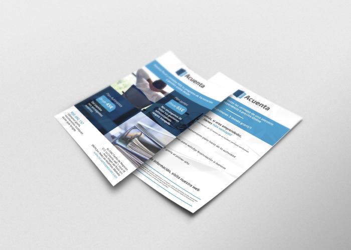 Diseño de flyer informativo para asesoría online